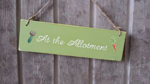At The Allotment Sign