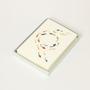 Koi Carp Luxury Boxed Card Set - notelets