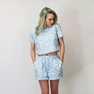 Alexa Cloud Print Co Ord Two Piece - skirts & shorts