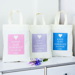 Personalised 'Gorgeous Flower Girl' Bag - flower girl gifts