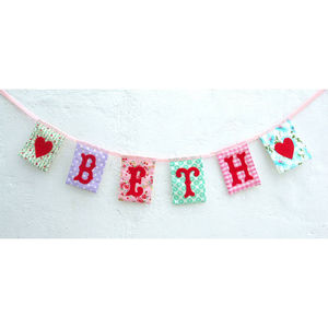 Personalised Girls Bunting