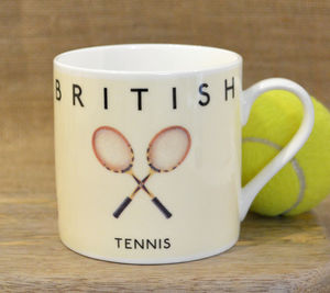 Best Of British Tennis Mug - crockery & chinaware