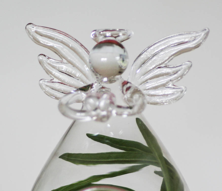 Glass Angel Vase Open By Bonnie And Bell Notonthehighstreet