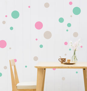 Coloured Polka Dot Wall Stickers - children's room