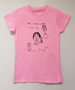 Woman's Tshirt Personalised With Your Drawing - tops & t-shirts