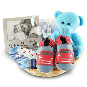 Beautiful Boy New Baby Gift Basket - new baby gifts