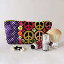Peace Sign Makeup Bag