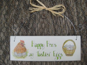 Hen And Egg Sign - art & decorations