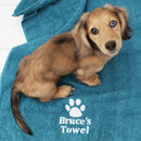 Personalised Paw Print Pet Towel