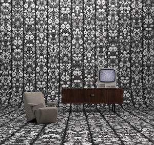 Studio Job Wallpaper : Black Withered Flowers - office & study
