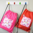 Girl's Personalised Star Waterproof Kit Bag