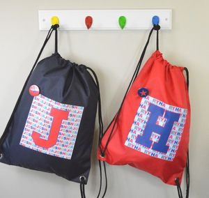 Boy's Personalised Initial Waterproof Kit Bag