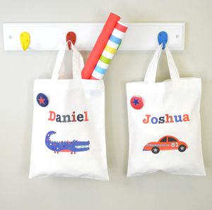 Boy's Personalised Mini Gift Or Party Bag - party bag ideas