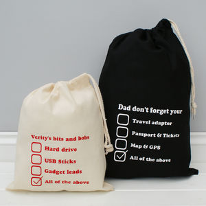Personalised Check List Gadget Bag - mens
