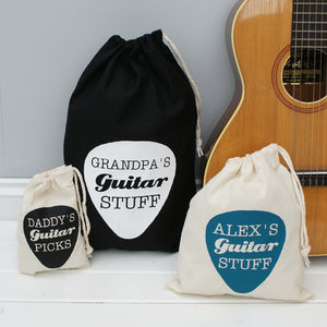 Personalised Guitar Pick Gadget Bag - bags & cases