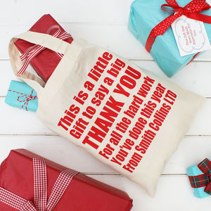 Personalised Corporate Thank You Gift Bags - stockings & sacks