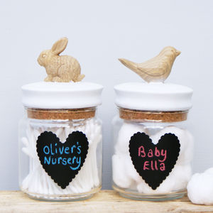 Animal Chalkboard Storage Jars