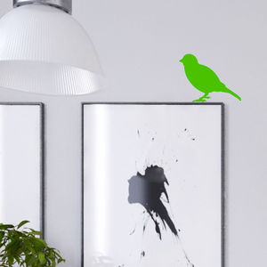 Neon Little Bird Wall Sticker - less ordinary wall art