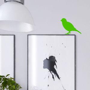 Neon Little Bird Wall Sticker - office & study