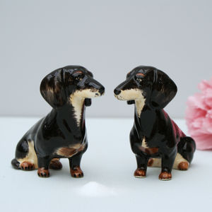 Dachshund Salt And Pepper Pots - kitchen accessories