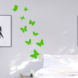Neon Butterflies Wall Sticker