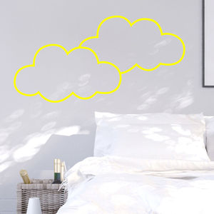 Neon Clouds Wall Sticker - wall stickers
