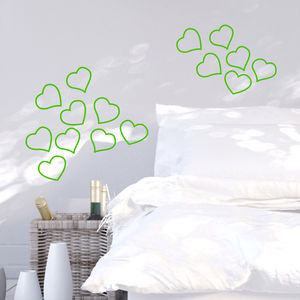 Neon Hearts Wall Sticker - home decorating