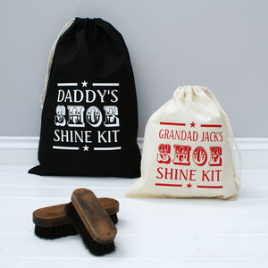 Personalised Retro Shoe Shine Bag - mens