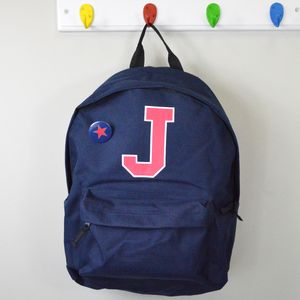 Boys Personalised College Style Backpack Bag