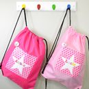 Girls Personalised Pattern Star Waterproof Kit Bag