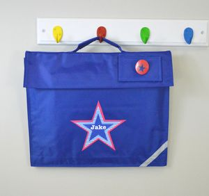 Boy's Personalised Book Bag