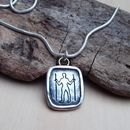 Long Man Silver Pendant