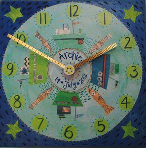 Boats And Fish Clock - baby's room