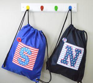 Boy's Personalised College Style Waterproof Kit Bag - baby & child sale
