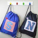 Boy's Personalised College Style Waterproof Kit Bag