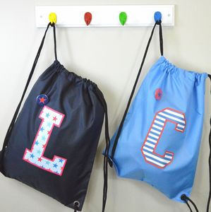 Boy's Personalised Large Initial Waterproof Kit Bag - bags, purses & wallets