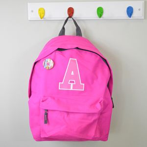 Girl's Personalised College Style Backpack Bag