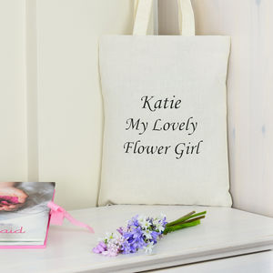 Personalised 'My Lovely' Flower Girl Bag