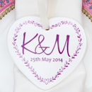 A Set Of Monogrammed Heart Favours