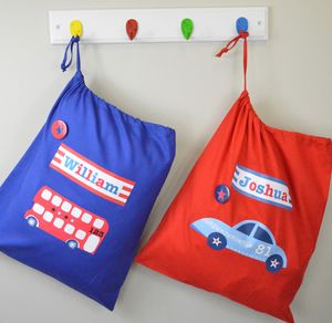Boy's Personalised Storage Bags - children's room