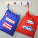 Boy's Personalised Storage Bags