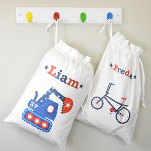 Boys Personalised Travel Laundry Bag - children's room