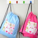 Girl's Personalised Apple Waterproof Kit Bag