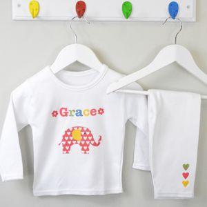 Girl's Personalised Pyjamas Various Designs