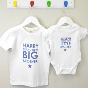 Boy's Personalised Brothers Gift Set - outfits & sets