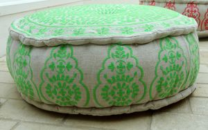 Nomad Embroidered Pouffe Floor Cushion Or Footstool - cushions