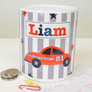 Boy's Personalised Money Box Various Designs