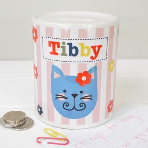 Girl's Personalised Money Box Various Designs