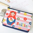 Girls Personalised Character Denim Purse