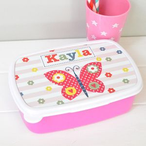 Girl's Personalised Lunch Box Various Designs